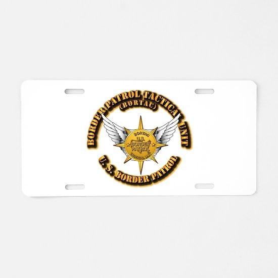 BORTAC Aluminum License Plate