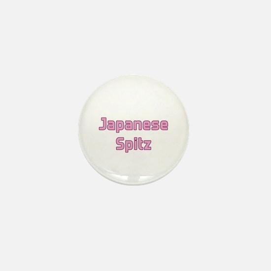 Japanese Spitz Mini Button