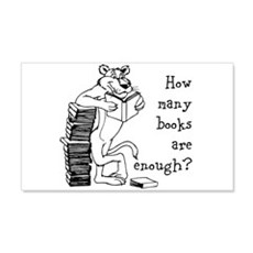 How Many Books Wall Decal