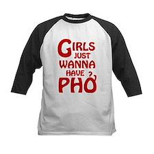 Girls Just Wanna Have Pho Baseball Jersey