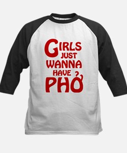 Girls Just Wanna Have Pho Baseball Jersey