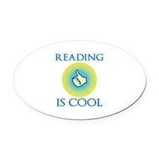 Reading Is Cool Oval Car Magnet