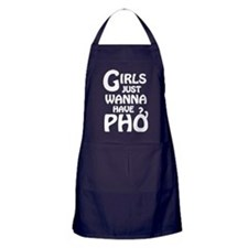 Girls Just Wanna Have Pho Apron (dark)