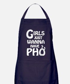 Girls Just Wanna Have Pho Apron (dark)