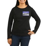 I'm With Stupid Hello Sticker Women's Long Sleeve