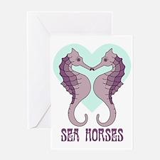 Kissing Sea Horses Greeting Card