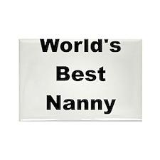 WORLDS BEST NANNY Rectangle Magnet