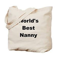 WORLDS BEST NANNY Tote Bag