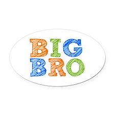 Sketch Style Big Bro Oval Car Magnet