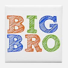 Sketch Style Big Bro Tile Coaster