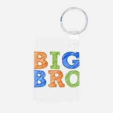 Sketch Style Big Bro Aluminum Photo Keychain