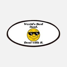 World's Best Aunt Humor Patches