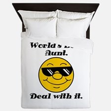 World's Best Aunt Humor Queen Duvet