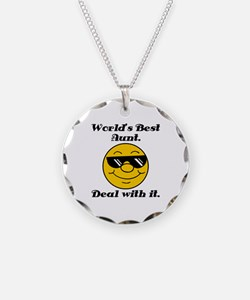 World's Best Aunt Humor Necklace