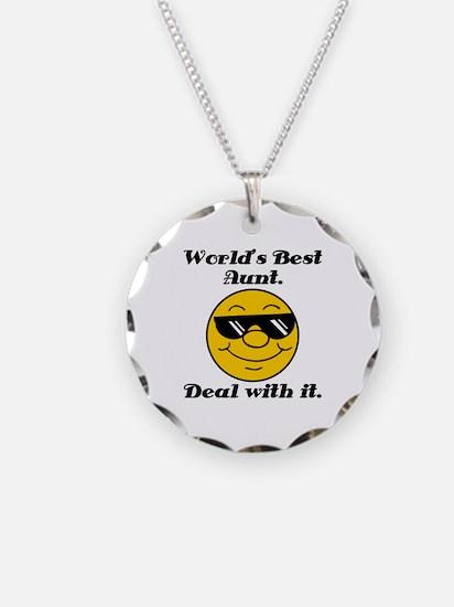 World's Best Aunt Humor Necklace
