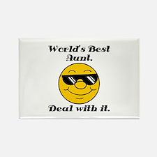 World's Best Aunt Humor Rectangle Magnet