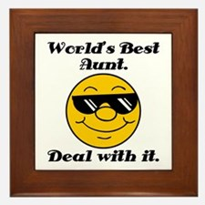 World's Best Aunt Humor Framed Tile