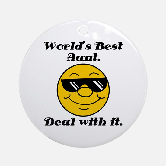 World's Best Aunt Humor Ornament (Round)