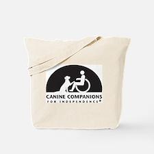 Black White Canine Companions Logo Tote Bag