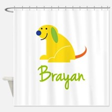 Brayan Loves Puppies Shower Curtain
