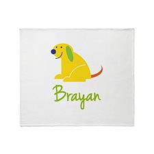 Brayan Loves Puppies Throw Blanket