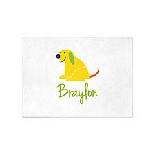 Braylon Loves Puppies 5'x7'Area Rug