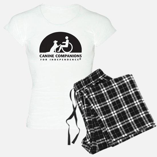 Black White Canine Companions Logo Pajamas