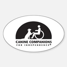 Black White Canine Companions Logo Decal