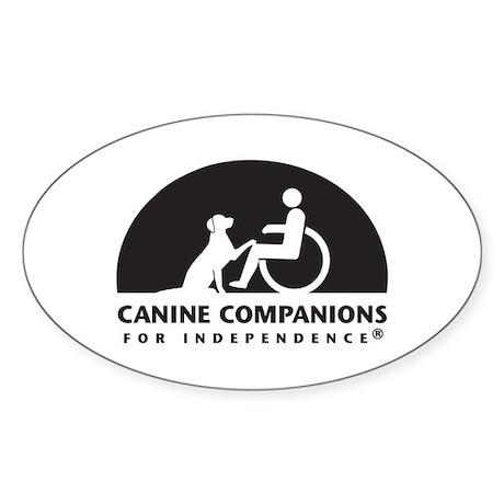Black White Canine Companions Logo Sticker
