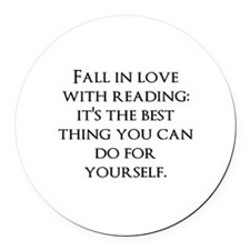 Fall In Love Round Car Magnet