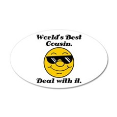 World's Best Cousin Humor Wall Decal