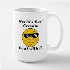 World's Best Cousin Humor Large Mug