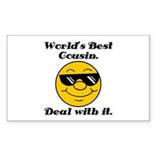 World's Best Cousin Humor Decal