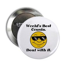 """World's Best Cousin Humor 2.25"""" Button (10 pack)"""
