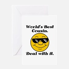 World's Best Cousin Humor Greeting Card
