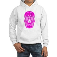 Day of the Dead Sugar Skull Pink Jumper Hoody