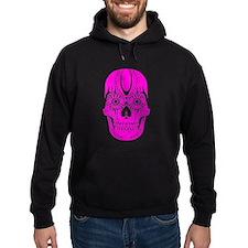 Day of the Dead Sugar Skull Pink Hoody