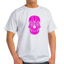 Day of the Dead Sugar Skull Pink T-Shirt