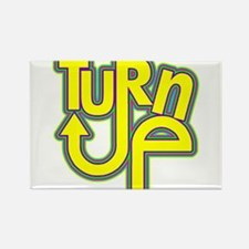 Turn Up Neon Rectangle Magnet