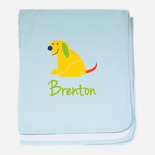 Brenton Loves Puppies baby blanket