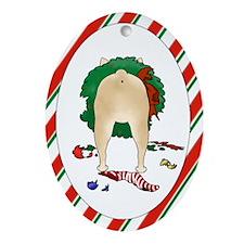 French Bulldog Christmas Oval Ornament