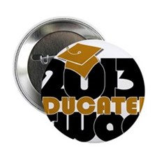 """Educated Swag Gold/Black 2.25"""" Button"""