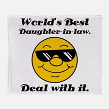 World's Best Daughter-In-Law Humor Throw Blanket