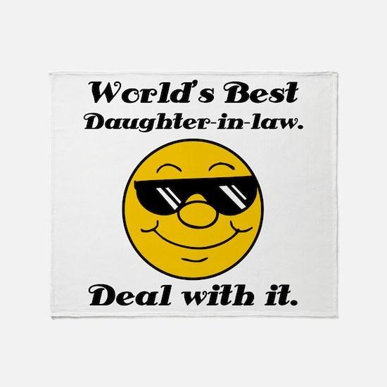 World's Best Daughter-In-Law Humor Throw Blanket