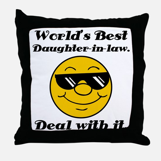 World's Best Daughter-In-Law Humor Throw Pillow