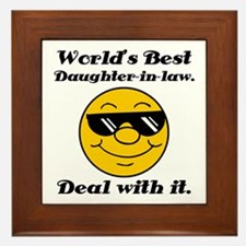 World's Best Daughter-In-Law Humor Framed Tile