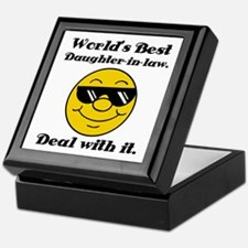 World's Best Daughter-In-Law Humor Keepsake Box