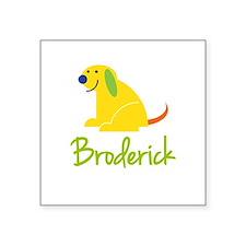 Broderick Loves Puppies Sticker