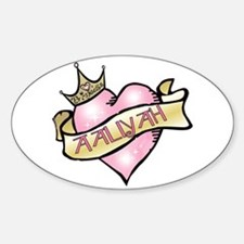 Sweetheart Aaliyah Custom Princess Oval Decal