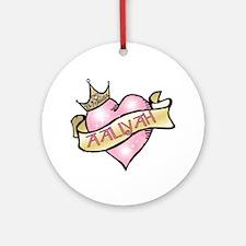 Sweetheart Aaliyah Custom Princess Ornament (Round